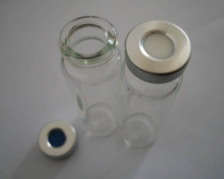 Vial  Transparente com Septo PTFE/Silicone e Tampa Tipo Crimp em Alumínio Pcte c/ 100 Unids