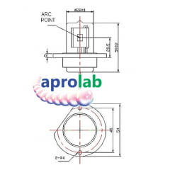 Lâmpada de Deutério D2 para Espectrofotômetro UV-VIS
